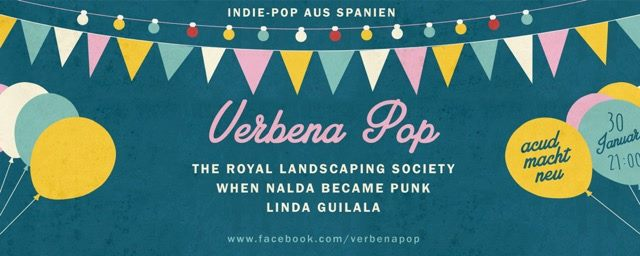 7ea7b64b325 A new concert series featuring the indie pop bands from Spain: Linda  Guilala, When Nalda Became Punk and The Royal Landscaping Society. DJ-Sets  by Cris, ...